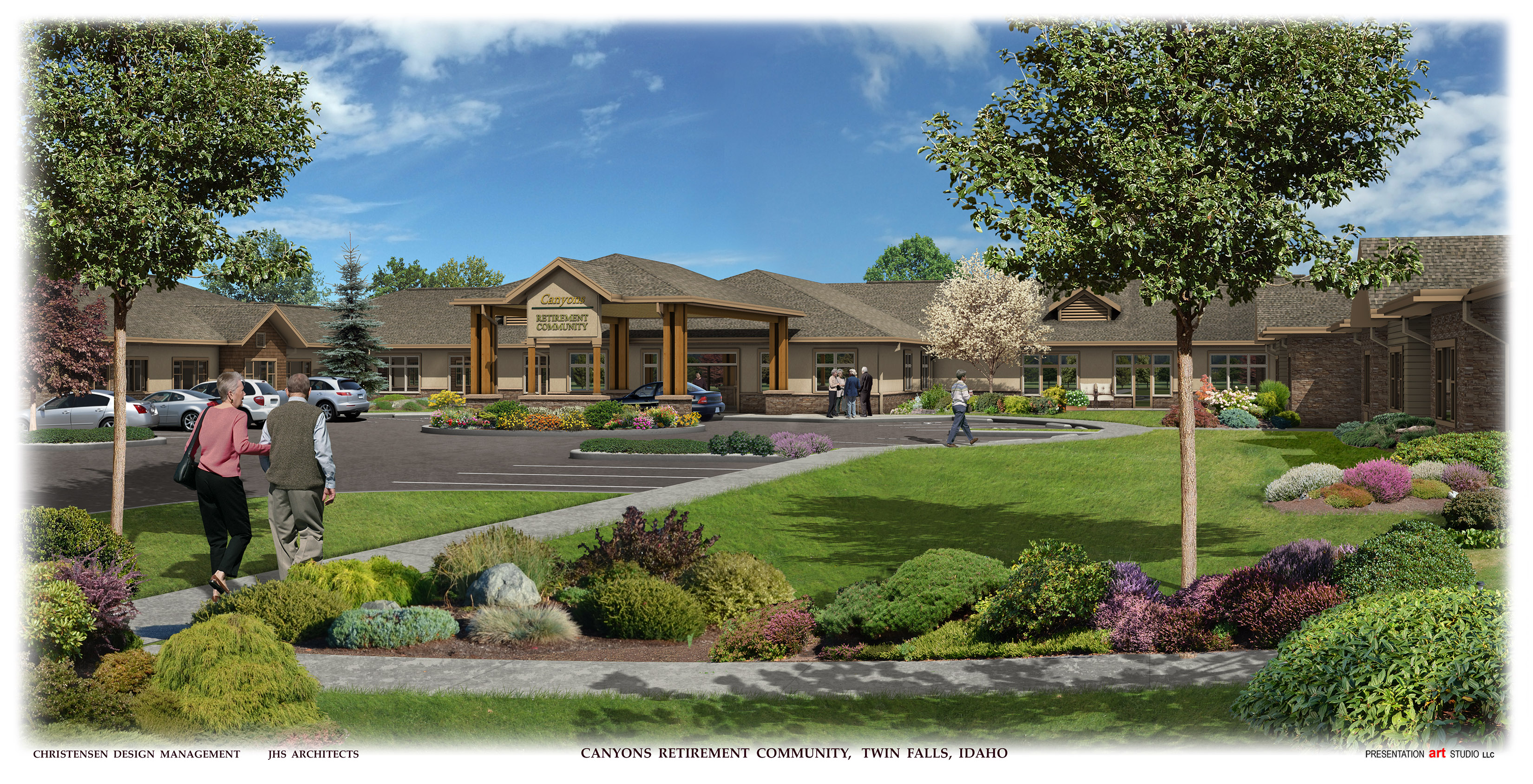 Canyons Retirement Community Entry View