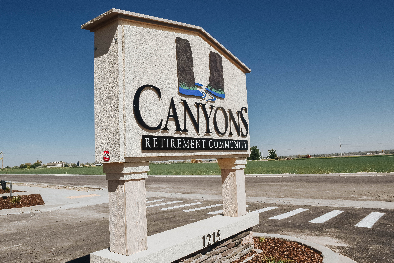 Canyons Retirement Community Twin Falls ID Signage