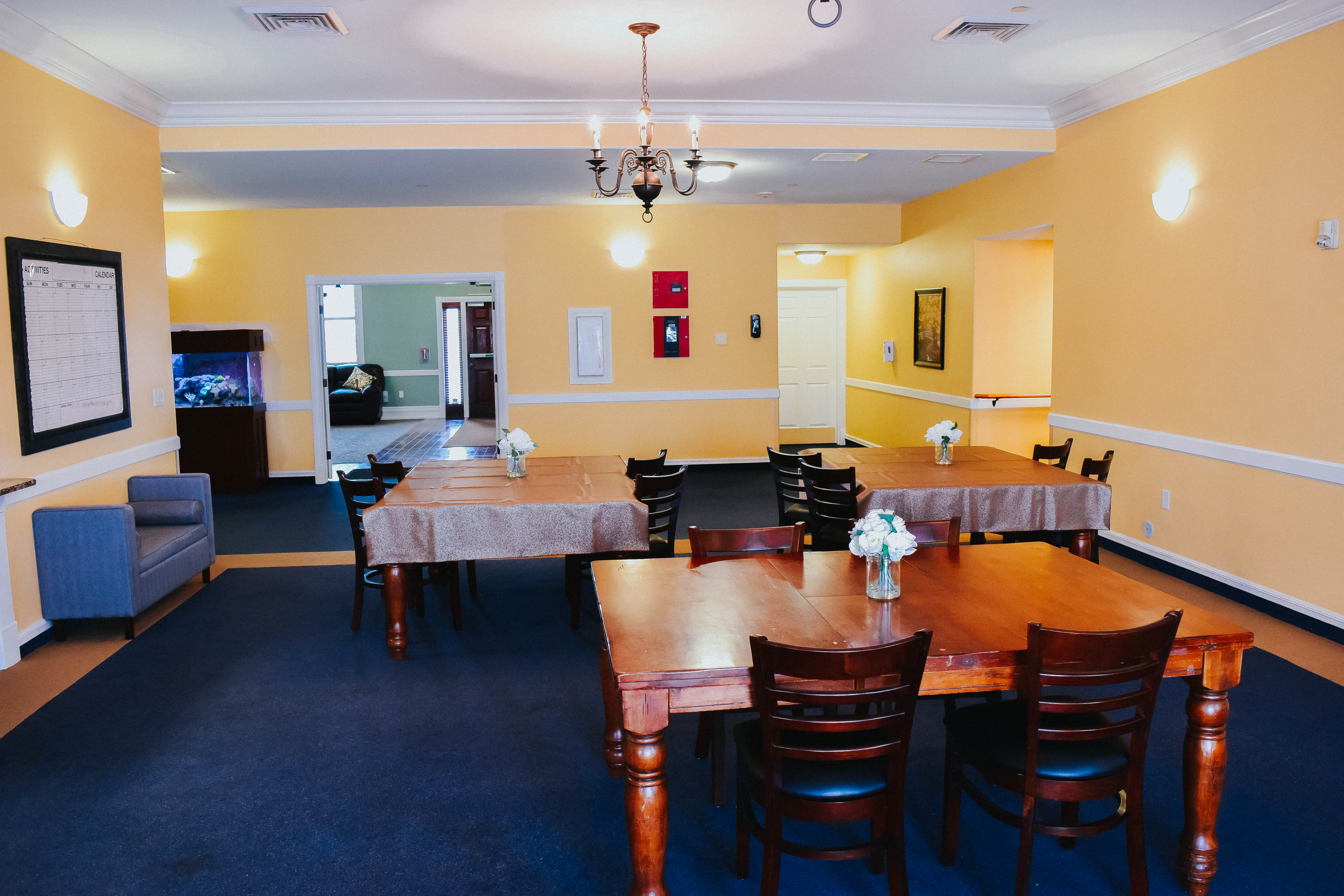 Tambree Meadows Assisted Living Dining and Activities Area