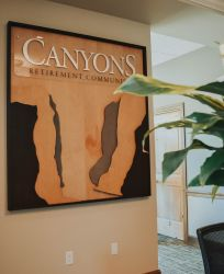 Canyons Retirement Community Twin Falls ID Exterior Sign